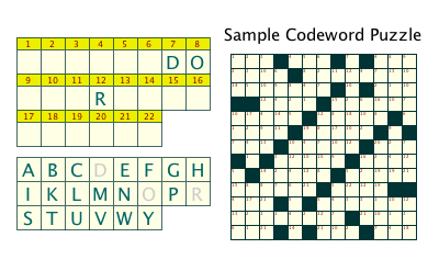 photograph relating to Codeword Puzzles Printable known as Codeword Puzzles