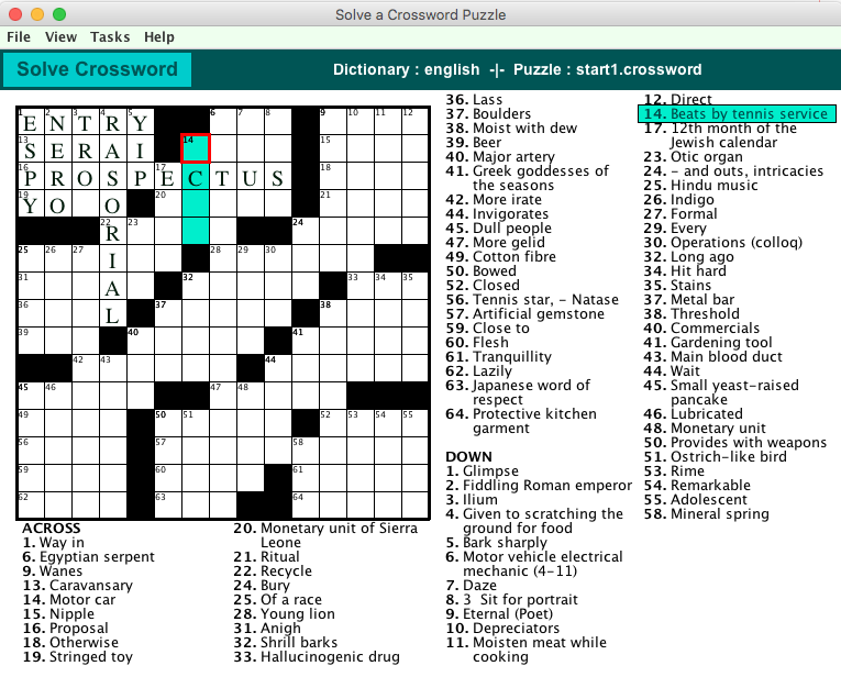 Make your own Crossword Puzzles with Crossword Express