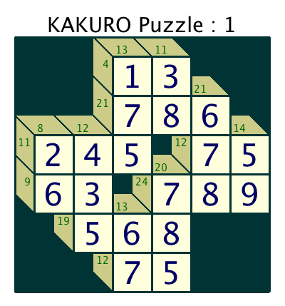 photograph relating to Kakuro Puzzles Printable known as Kakuro Puzzles
